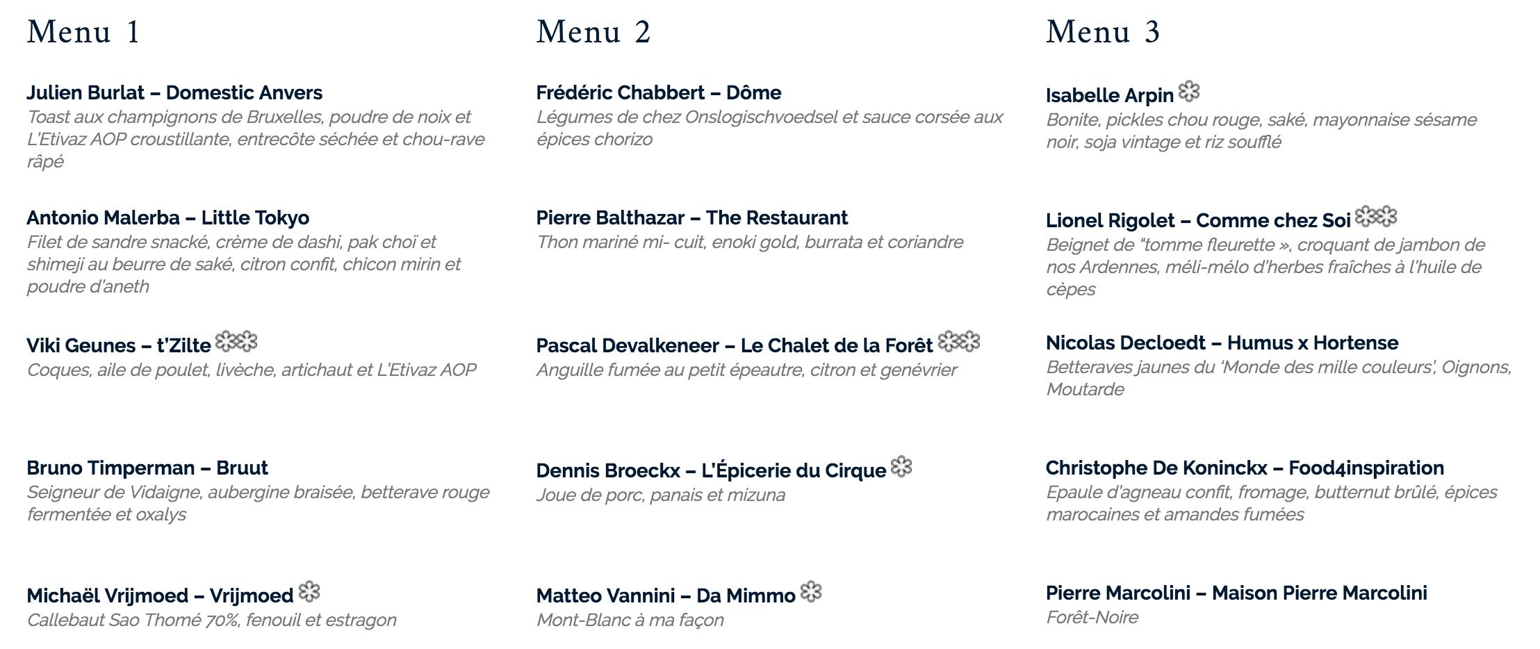 menu Culinaria