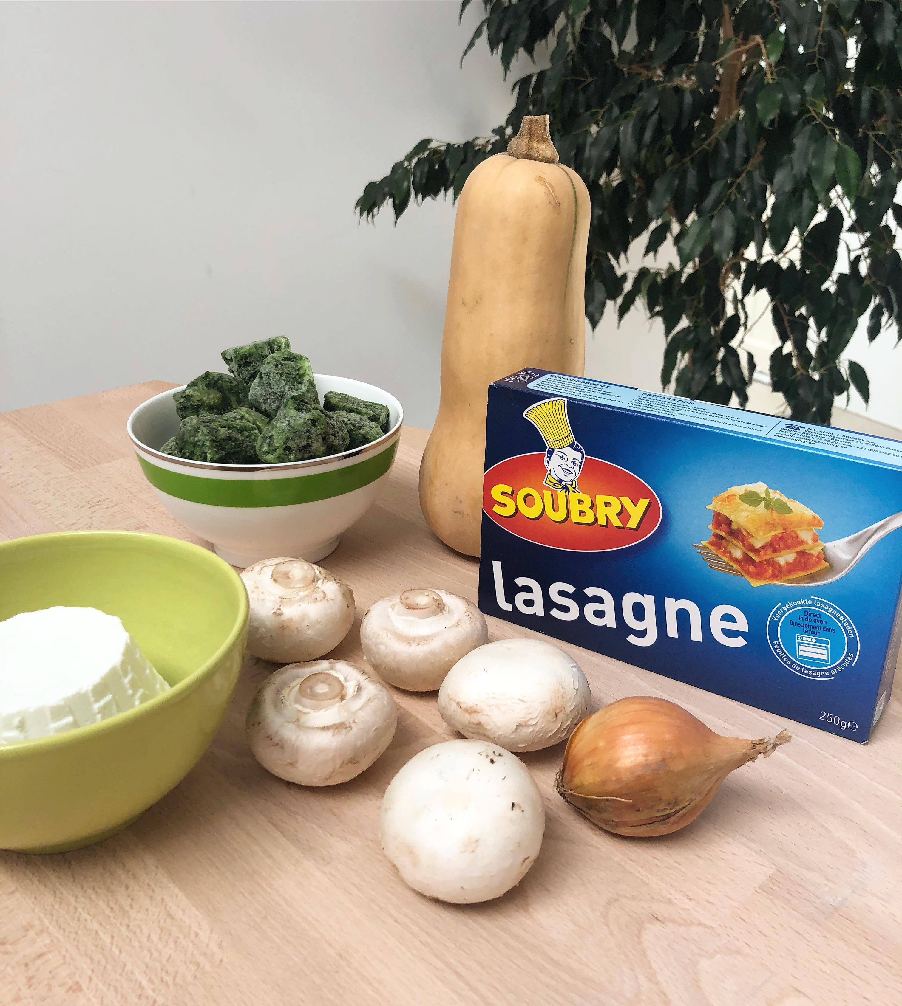 Lasagne butternut ricotta épinards