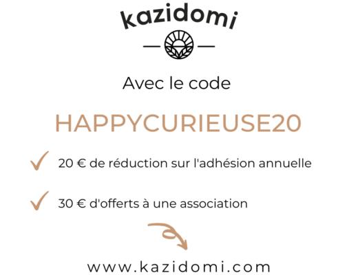 Kazidomi code promo